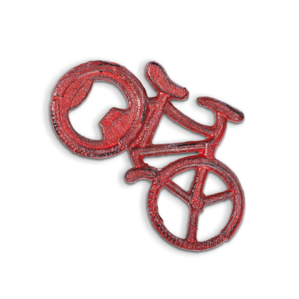 Small Flat Bicycle Bottle Opener Finely Crafted Cast Iron
